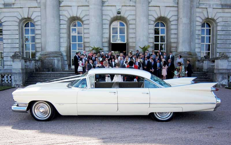 Surrey Cadillacs Wedding cadside1