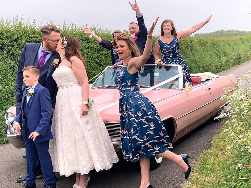 Surrey Cadillac's Pink Cadillac Wedding